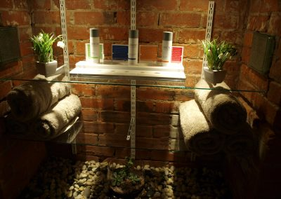 ASAP product and towel storage area - Lavish Skin Therapy Clinic-beauty salon Benalla 03 5762 8404