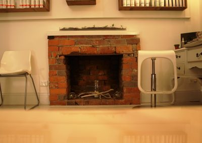 Fireplace display in room - Lavish Skin Therapy Clinic-beauty salon Benalla 03 5762 8404