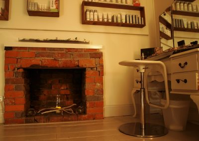 Fireplace feature in beauty treatment room - Lavish Skin Therapy Clinic-beauty salon Benalla 03 5762 8404